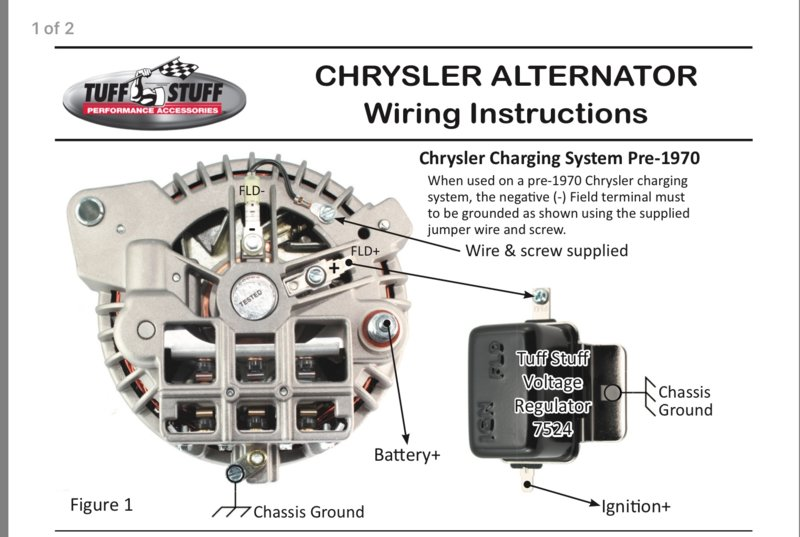 Alternator Wiring Diagram Mopar