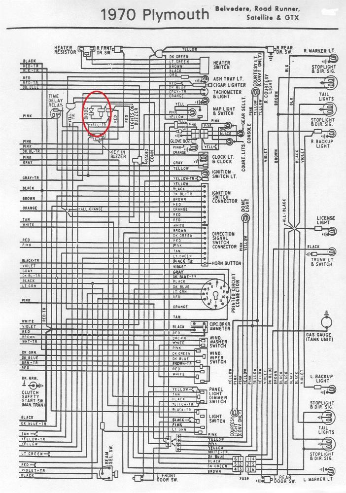 1972 dodge dart wiring diagram baldor reversible motor 1970 buzzer diode | for b bodies only classic mopar forum