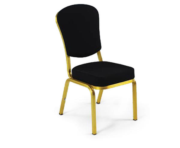 banquet chair trolley cushions canada stacking chairs for hotel banqueting halls forbes group with gold frame and black fabric upholstery