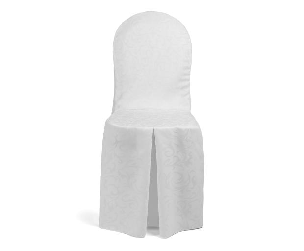 chair cover elegance white wooden for desk tailored covers hotels restaurants and wedding venues with front pleat