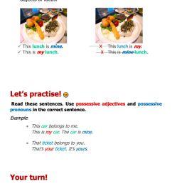 Grade 3 English: Possessive Pronoun (1) - Grade 3 - FORBEST ACADEMY [ 1650 x 1275 Pixel ]