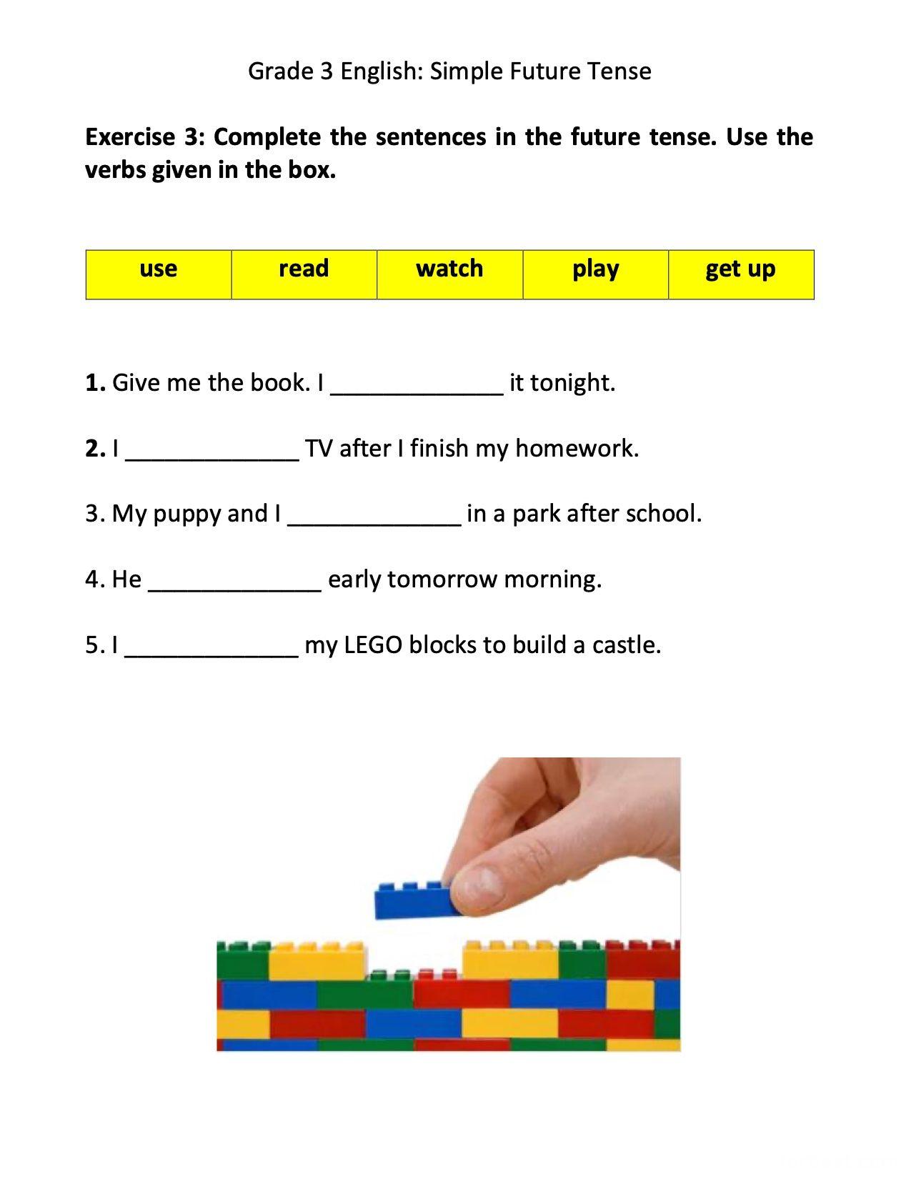 hight resolution of Grade 3 English: Future Tense - Grade 3 - FORBEST ACADEMY