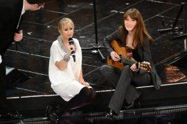 Duetto Luciana Littizzetto e Carla Bruni Sarkozy   © Daniele Venturelli / Getty Images