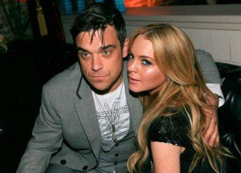 Robbie Williams e Lindsay Lohan nel 2007 | © Michael Buckner / Getty Images