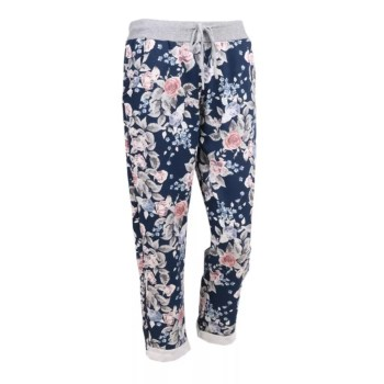 FF-FLORALCASUALTROUSERSNAVY