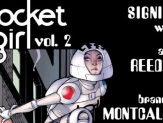 Amy Reeder, Brandon Montclare Rocket Girl TP vol 02 signing Forbidden Planet NYC event comics graphic novel Image Comics