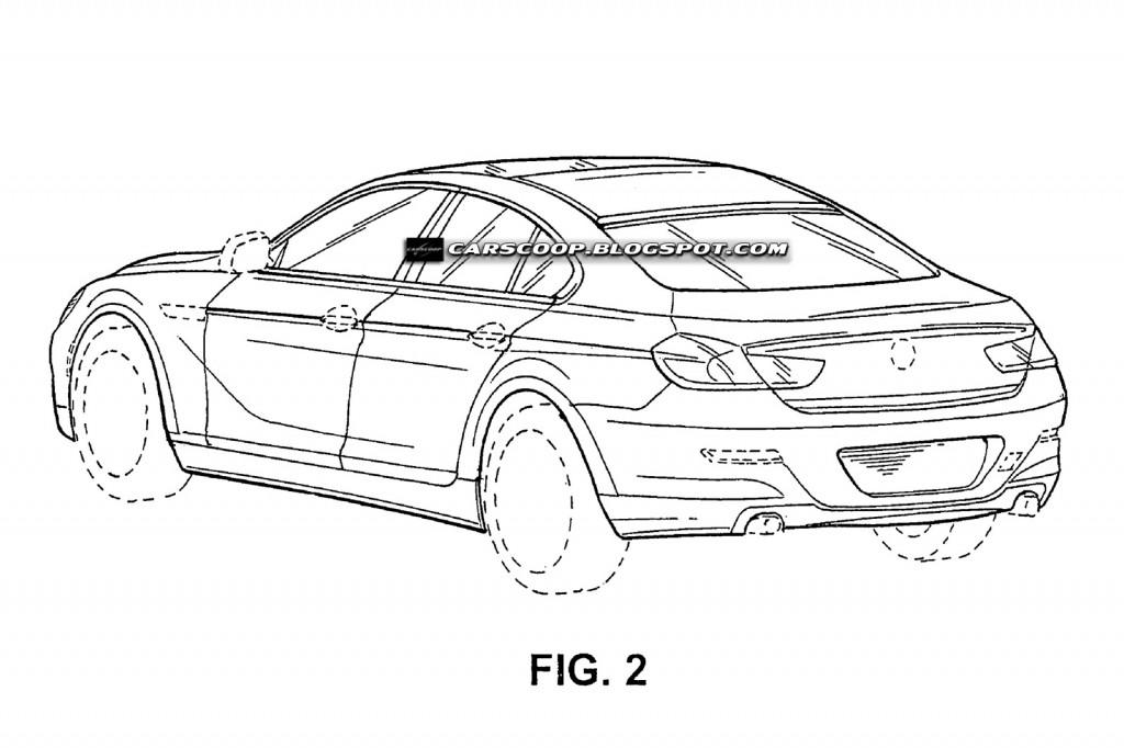 New BMW 4-Door Sports Coupé Official Patent Designs
