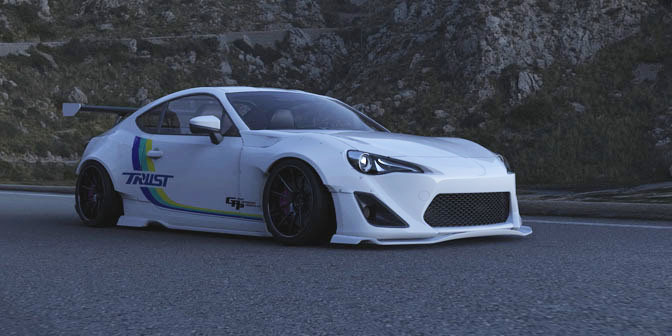 Race Car Wallpaper 1080p Toyota Tuning Trust Greddy Widebody Toyota Gt86 Rendering