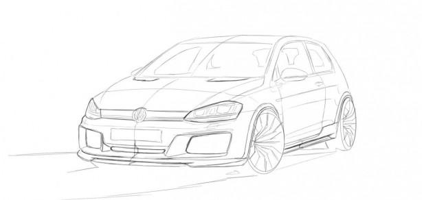 RevoZport Mk7 Volkswagen Golf GTI Razor 7 sketch front
