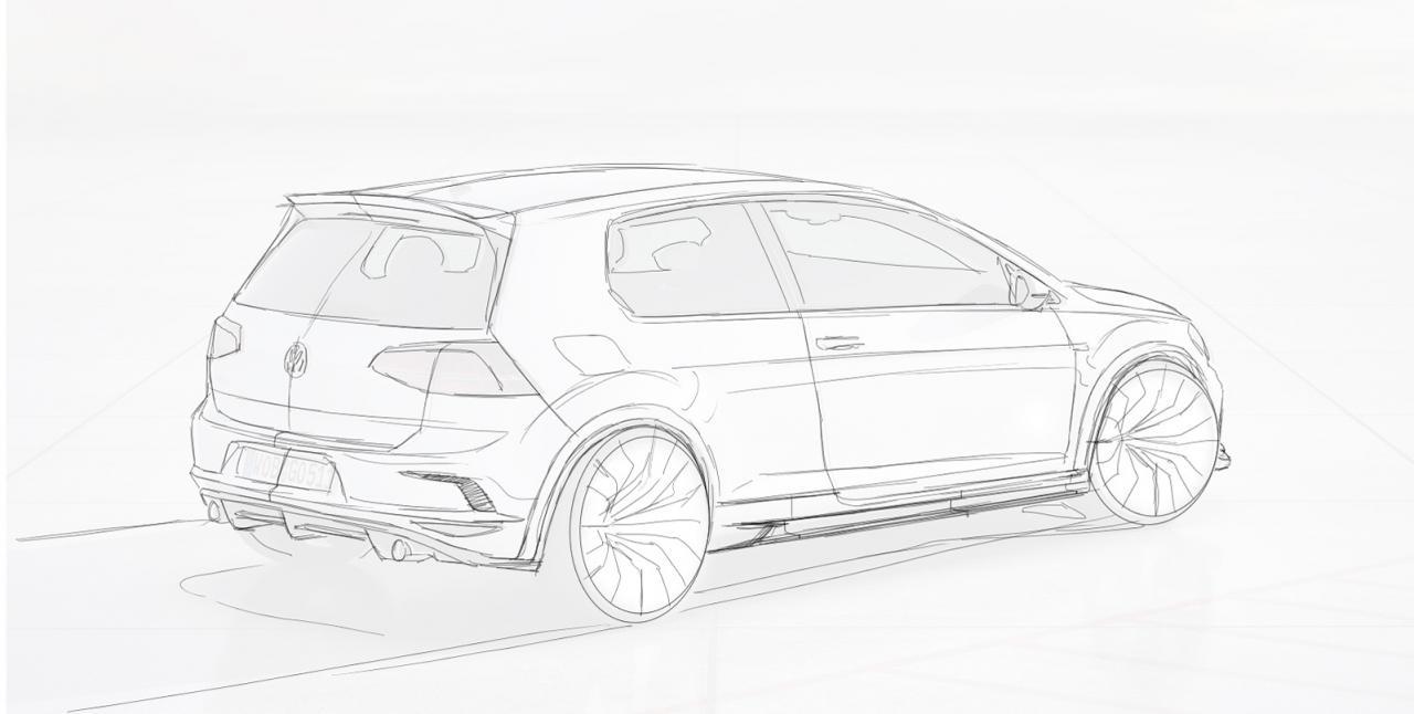 RevoZport Mk7 Volkswagen Golf GTI Razor 7 sketch rear