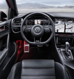 volkswagen golf r touch concept active information display [ 1600 x 1067 Pixel ]