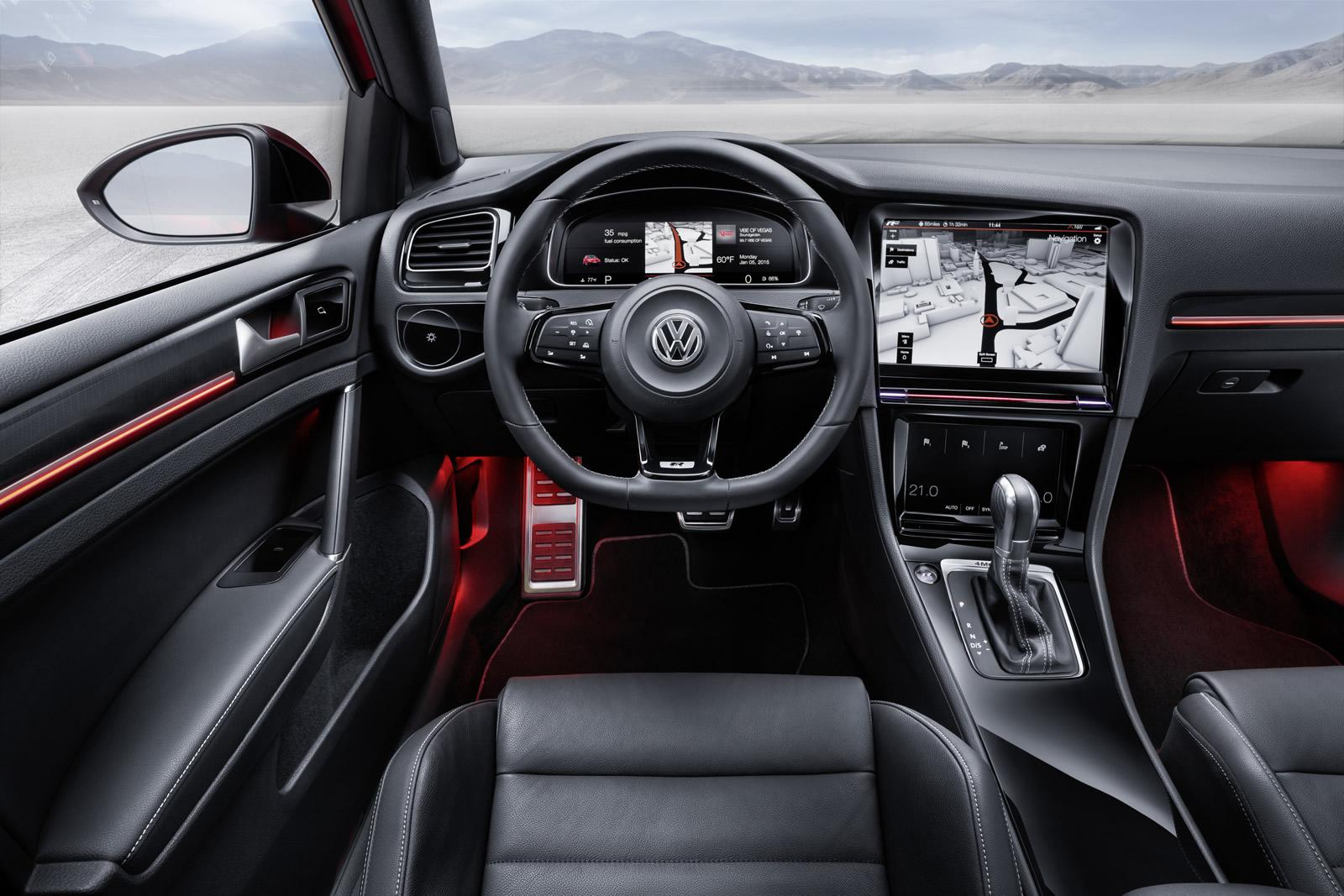 hight resolution of volkswagen golf r touch concept active information display