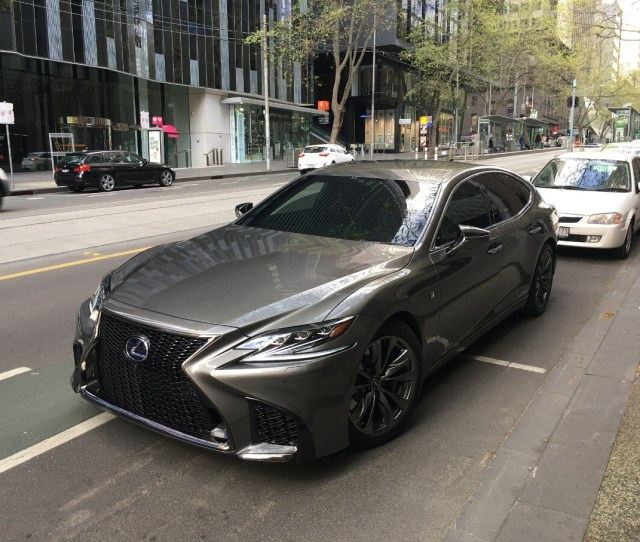 The All New Fifth Generation Lexus Ls Flagship Sedan Is Not Due For Launch In Australia Until April Next Year But A H Has Been Spotted On The