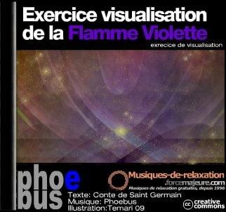 Visualisation de la flamme violette
