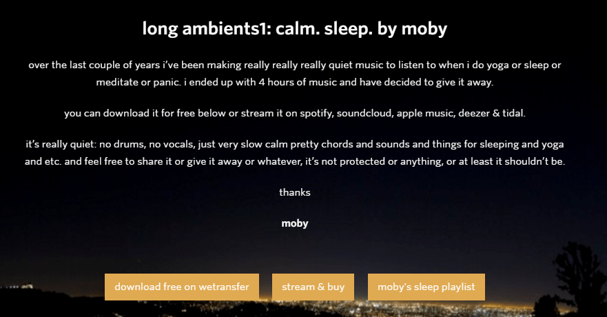 long ambient moby