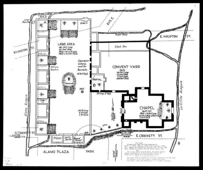 alamo chapel floor plan