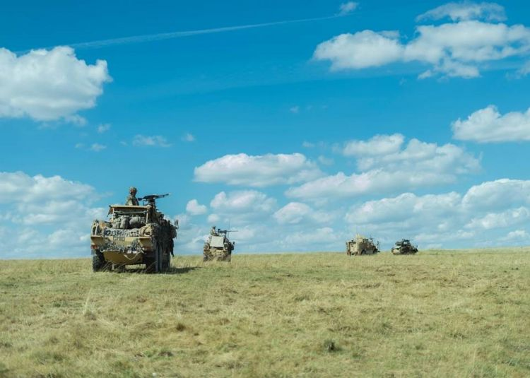 Soldiers train in Jackal vehicles on Salisbury Plain ahead of deployment to Mali on a UN Peacekeeping mission 290720 CREDIT MOD