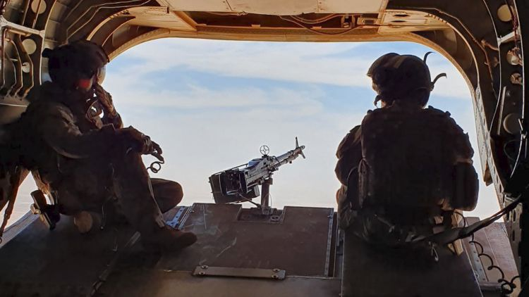 UK anonymous service personnel in Chinook during Mali deployment - pic used on 120620 CREDIT MOD.jpg