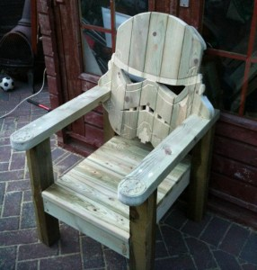 HAVE A SEAT In A Stormtrooper's Face
