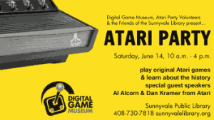 Come and Re-Live Your Childhood At the Atari Party On Sat. June 14th at the Sunnyvale Public Library in CA