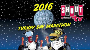 Shout! Factory to Host 2016 'MST3K' Turkey Day Marathon Featuring Top Six Classic Episodes of All Time