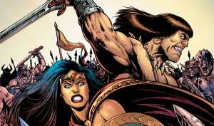 Legends Collide in New 'Wonder Woman / Conan' Crossover!