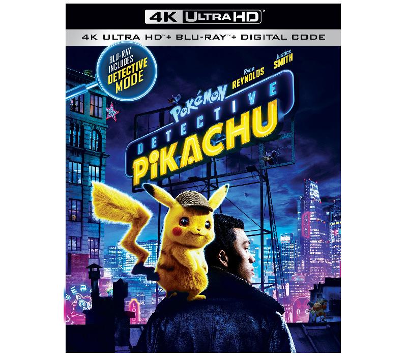POKÉMON Detective Pikachu' Arrives on 4K UHD Combo, Blu-ray Combo