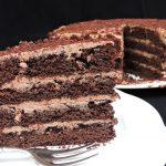Torta al cioccolato farcita, la mia B-day cake