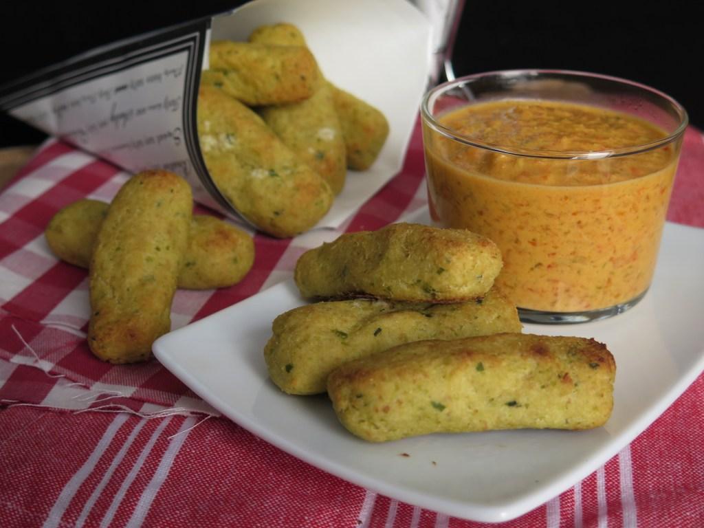 Crocchette di cavolfiore con salsa di peperoni