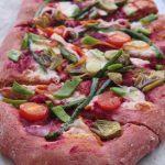 Pizza alla barbabietola rossa