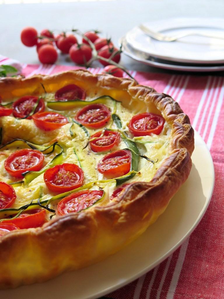 Quiche di zucchine e pomodorini
