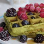 Waffle al tè matcha vegan