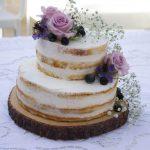 Naked Cake alla vaniglia con crema al mascarpone e lamponi