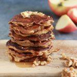 Pancake mele e cannella senza burro