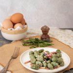 Gnocchi di erbe spontanee delle Marche (crespigna, grugno e borragine)