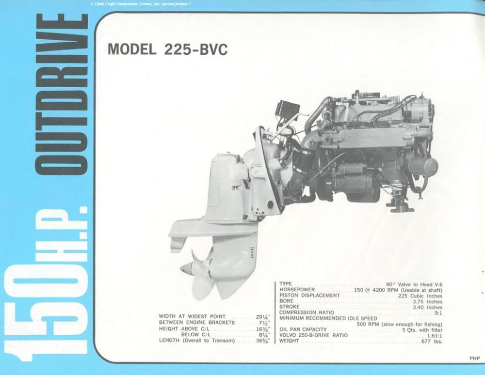 medium resolution of model 225 bvc 150 hp v6 outdrive