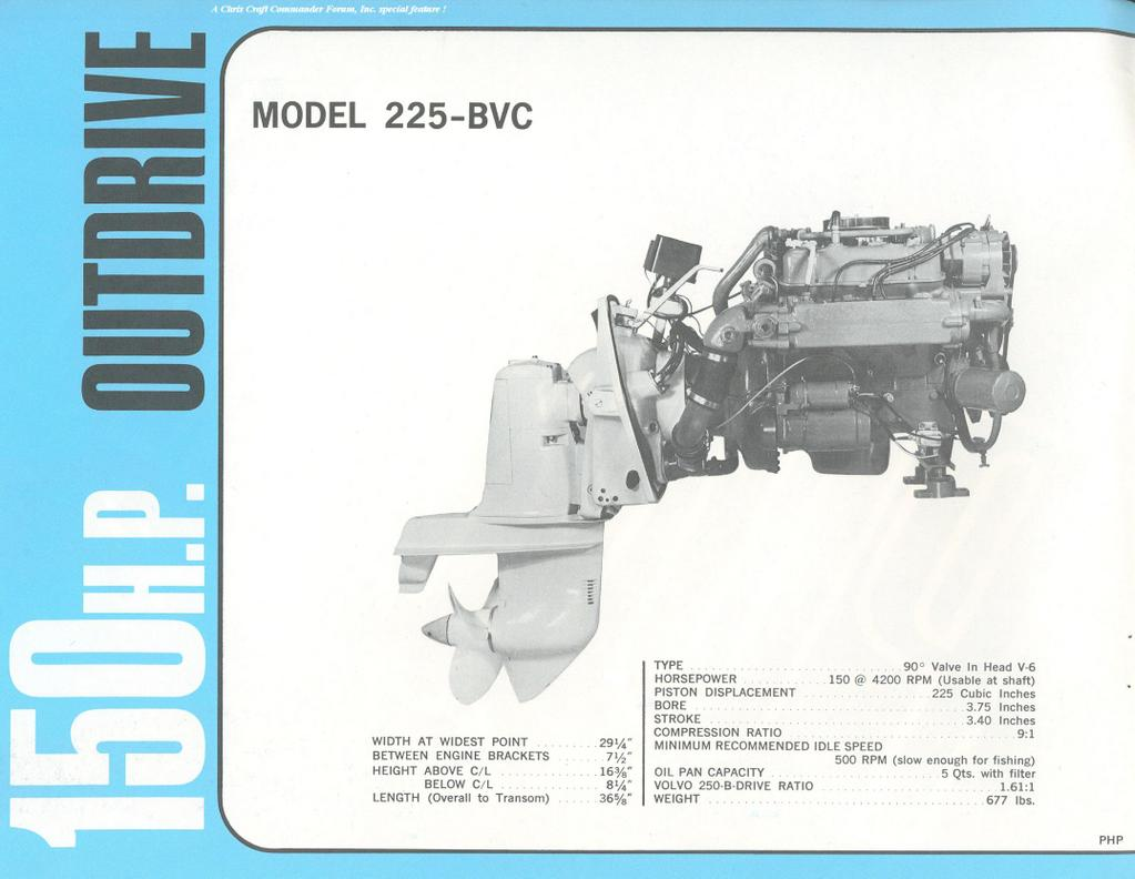 hight resolution of model 225 bvc 150 hp v6 outdrive