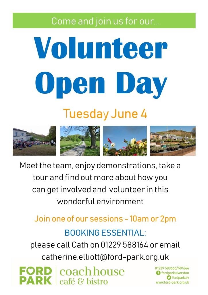 Chance to share your skills at Volunteer Open Day