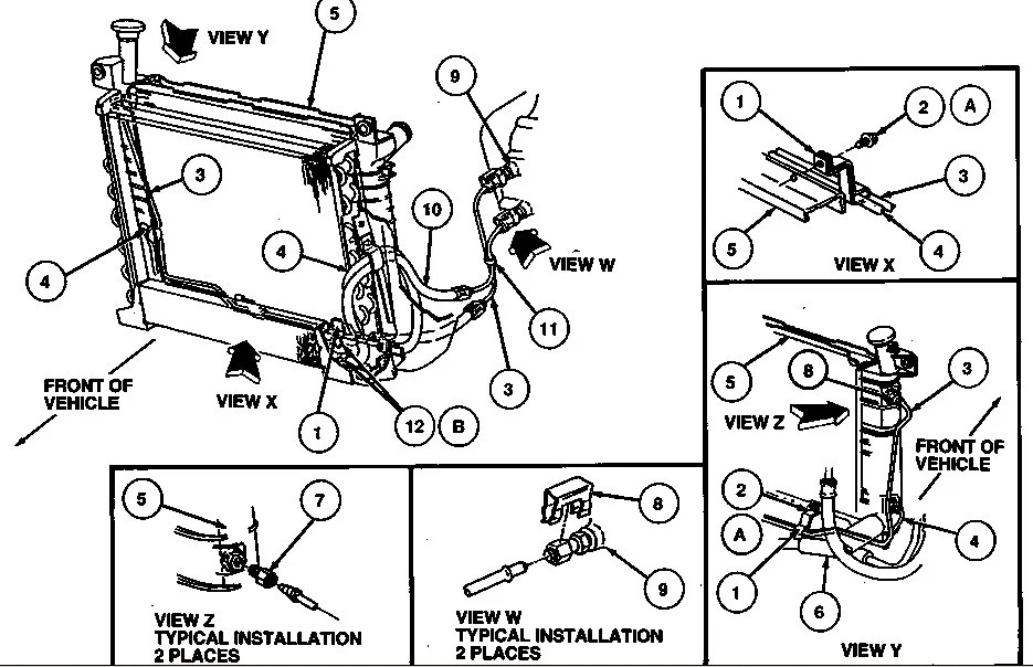 2002 ford taurus cooling system diagram cat 3 wiring rj11 long trans cooler line part # ? please. - car club of america : forum