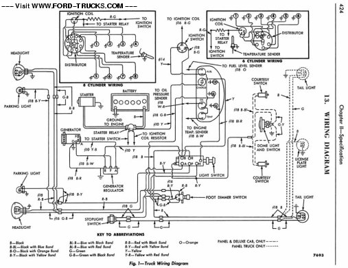 1956 Ford F100 4x4-Wiring Diagram