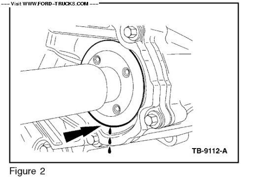2003 Ford F250 4x4-Taurus X PTU Seal leak