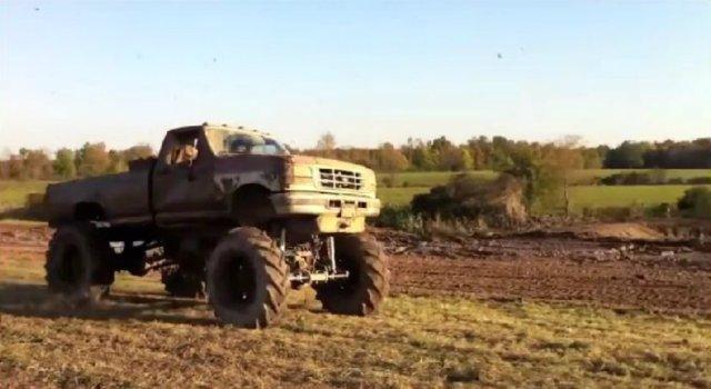 Ford Mega Truck Jump
