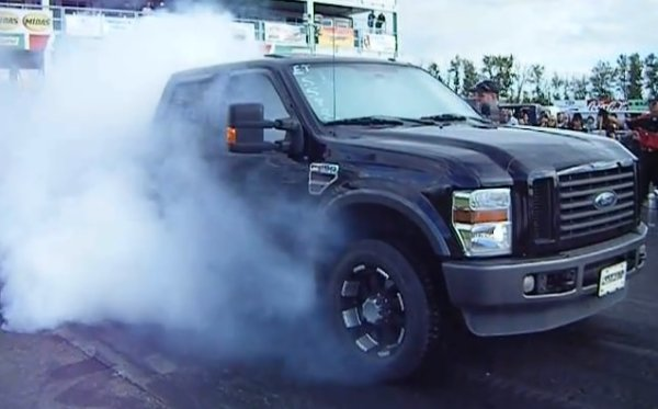 black f250 burnout comp 600