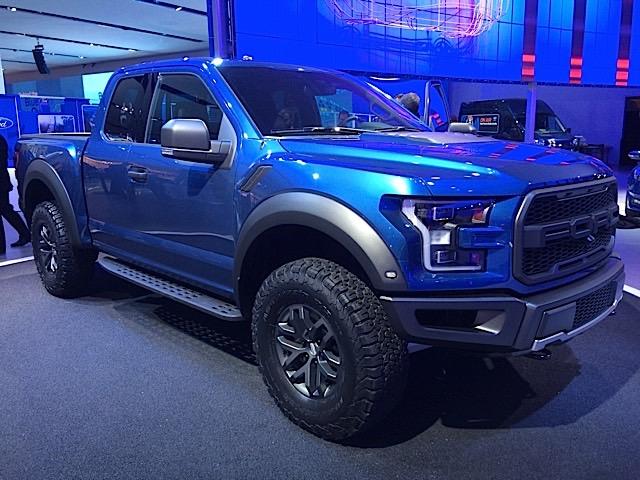 2017 Ford Raptor in Liquid Blue