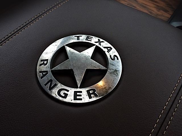 2015 Ram 1500 Texas Ranger Concept truck -  console lid badge.
