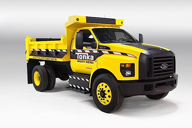 Mighty Ford F-750 TONKA, the ultimate TONKA truck, is built on all-new 2016 Ford F-650/F-750, the anchor of Ford's commercial truck lineup and the toughest, smartest, best-value Ford medium-duty trucks ever,Mighty Ford F-750 TONKA, the ultimate TONKA truck, is built on all-new 2016 Ford F-650/F-750, the anchor of Ford's commercial truck lineup and the toughest, smartest, best-value Ford medium-duty trucks ever