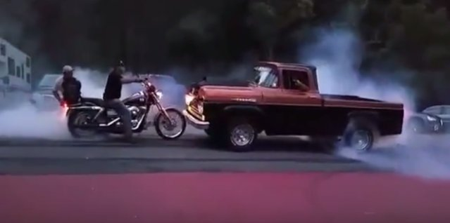1960 ford truck burnout