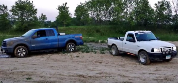 Ford ranger mudding