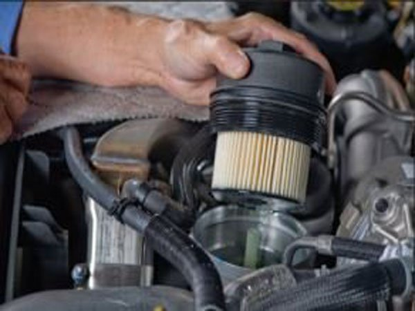 your diesel super duty needs that filter changed on a regular basis as a  dirty filter will make your truck struggle with idling and accelerating as  well as