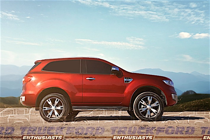 Ford Everest Based Bronco Concept Rendering